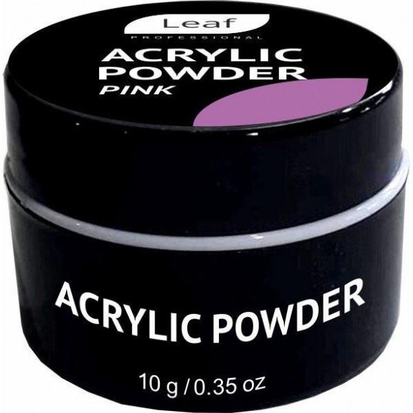 Акриловая пудра Leaf Acrylic Powder 10 г Pink