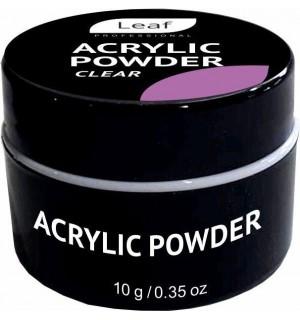 Акриловая пудра Leaf Acrylic Powder 10 г Clear