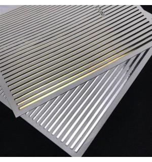 Гибкие ленты для дизайна - золото и серебро
