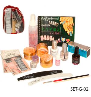 Набор для наращивания ногтей гелем SET-G-02