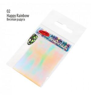 ФОЛЬГА «BROKEN GLASS» PNB 02 HAPPY RAINBOW