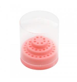 подставка для насадок розовый 48 шт
