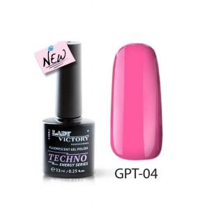 Флуоресцентный гель-лак GPT-04