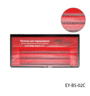 Ресницы EY-BS-02C пучковые, 12 мм