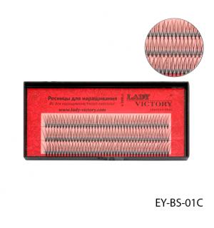Ресницы EY-BS-01C пучковые, 12 мм