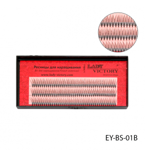 Ресницы EY-BS-01B пучковые, 10 мм