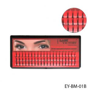 Ресницы EY-017A пучковые 15мм (1x10)