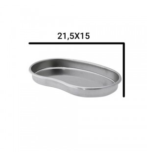 Металлический латок для стерилизации инструментов, 21,5*15*2,5 см