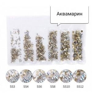 СТРАЗЫ MIX АКВАМАРИН 6 В 1